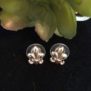 Brighton Fleur de Lis Earrings